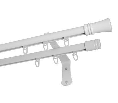 Настенный двухрядный профильный металлический карниз КАРИНО CLB2