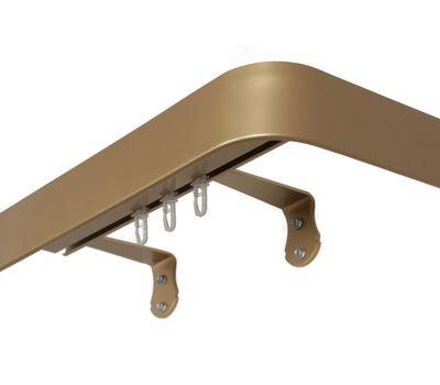 Настенный двухрядный профильный металлический карниз АТЛАНТ AC2